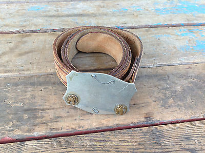 Vintage Hand Finished Top Grain Cowhide Belt w/ Nickel Silver Buckle -Size 36