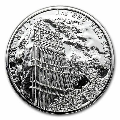 2017 1 oz Great Britain Silver Landmarks of Britain (Big Ben) Coin (BU)