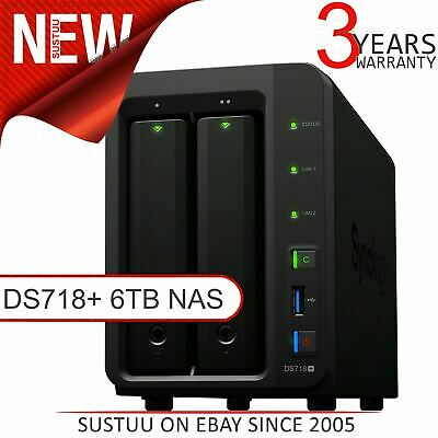 Synology Disk Station 2 Bay Desktop NAS│Storage Unit with 6TB WD RED Hard Drives