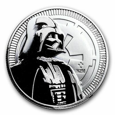 2017 1 oz New Zealand Silver $2 Niue Star Wars Darth Vader Coin (BU)