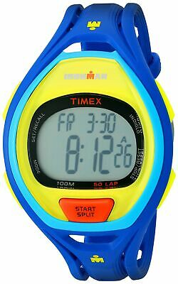 Timex Unisex TW5M01600 Ironman Sleek 50 Full-Size Blue/Lime Color Block Resin...