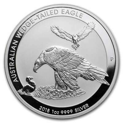 2018 1 oz Australia Silver Wedge Tailed Eagle (BU) In Capsule
