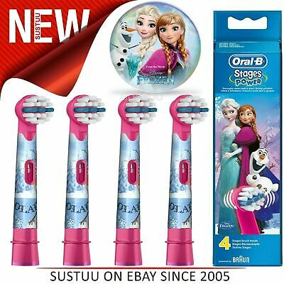 Oral-B StagesPower Replacement Toothbrush Heads(Pack of 4)|Kids Frozen Character
