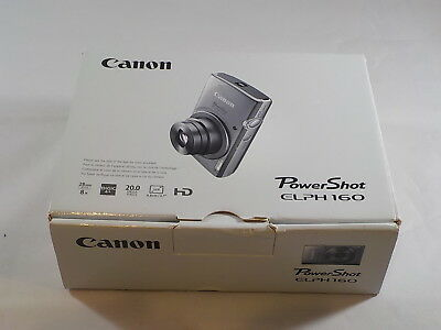 NEW in Open Box - Canon PowerShot ELPH 160 20.0MP Camera - RED - 013803252910