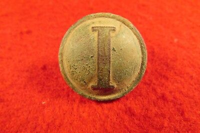 "Civil War Confederate Lined ""I"" Infantry Coat Button - Dug Dinwiddie County, VA"