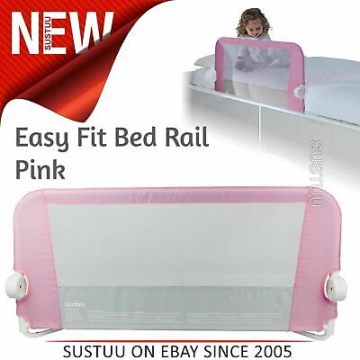 Lindam Toddler Easy Fit Bed Rail│Baby Kid's Bed Sleep Safety Guard Rail│Pink│