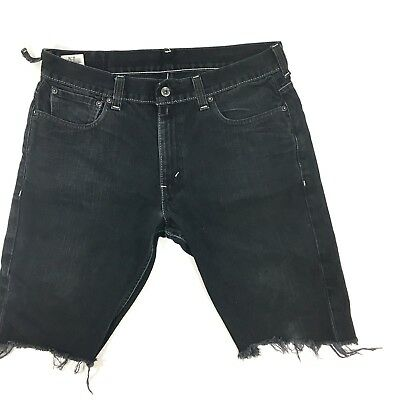 8bde50de860315 LEVI S 511 SLIM Skinny Cut Off Mens JEANS Shorts Blue Denim Mens 29 ...