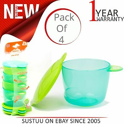 Vital Baby Prep and Go Baby/Kid's Food Pots/Containers│Microwave&Dishwasher Safe