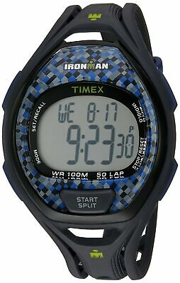 Timex Unisex TW5M07900 Ironman Sleek 50 Full-Size Gray/Blue Resin Strap Watch