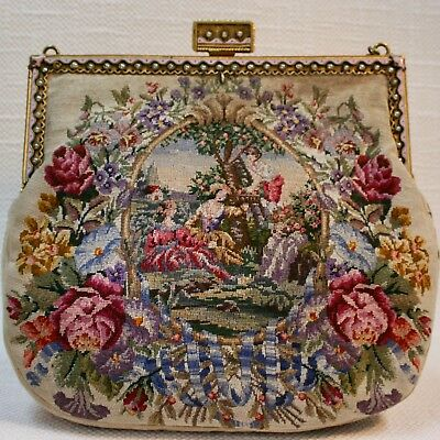 BALL Tasche Exclusive HANDBAG +++  antike Petit Point TASCHE  perfekt!  um 1900