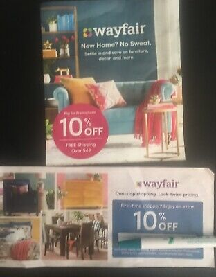 WAYFAIR COUPON - 10% Off Coupons For 1st Time Customers Exp. 3/31/19