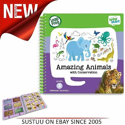 Leap Frog LeapStart Amazing Animals Activity Book│40+ Replayable Activities│+4yr