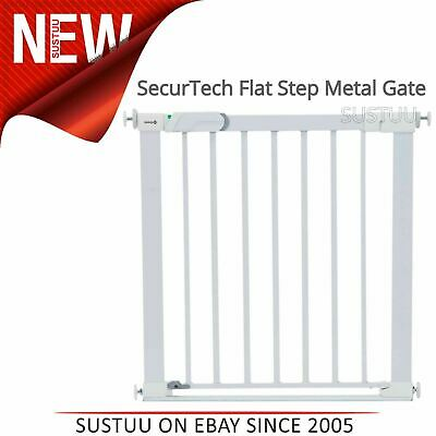 Safety 1st SecurTech Flat Step Metal Gate│Kid's Protection For Stairs│73 to 80cm
