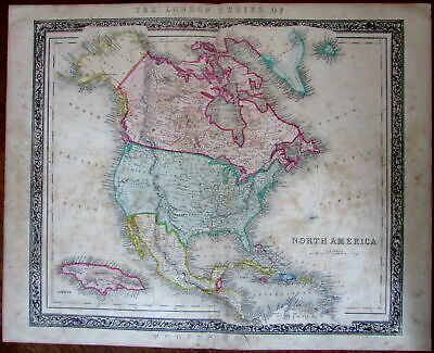 North America Mormons & Unmapped territorial West c.1846 Betts rare map