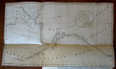 Alaska Northwest Coast America Capt. Cook 1784 Univ. Mag rare periodical map