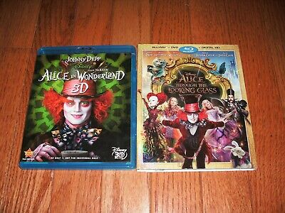 Disney's Alice in Wonderland 3D & Alice Through the Looking Glass on Blu-ray.