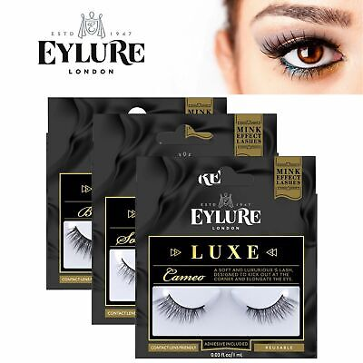 d7ba488ae92 Eylure Luxe Lash Ladies Reusable Adhesive False Eyelashers 100% Cruelty  Free NEW