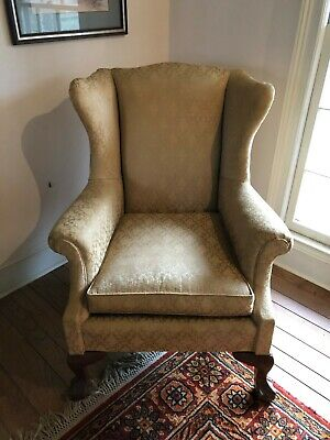American Chippendale Wingback Arm Chair ball and claw worth 8000+