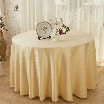 Crocheted Vine Flower Hotel Round Table Cloth Restaurant Rectangular Polyester H