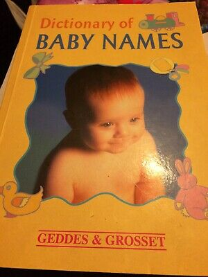 Baby Names Dictionery Paperback
