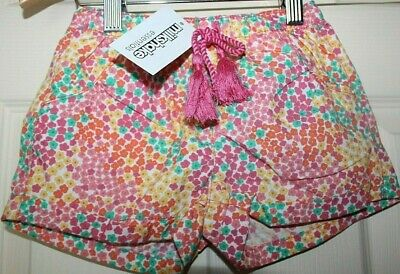 New with Tags girls MILKSHAKE floral multi-coloured SHORTS size 4