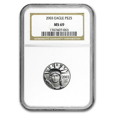 2003 1/4 oz Platinum American Eagle MS-69 NGC - SKU #11074