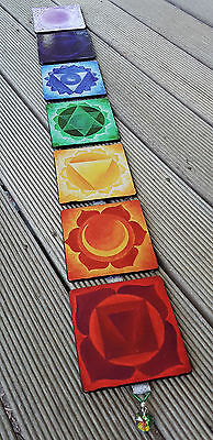 CLEARANCE Chakra Wall Hanging Original Art Yoga Handmade Meditation Decor
