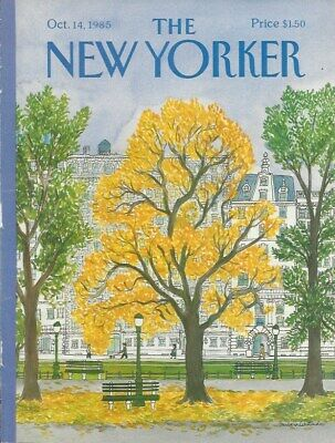 COVER ONLY The New Yorker magazine October 14 1985 ~ WESTMAN ~ Central Park tree