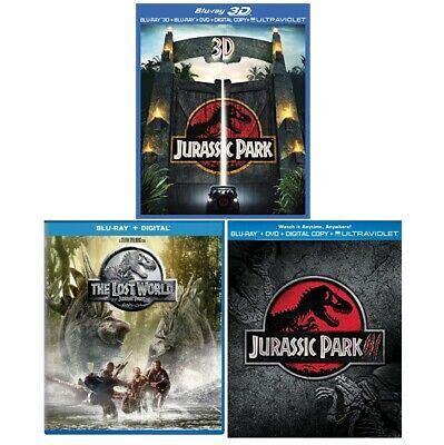 Jurassic Park 1-3 Trilogy Blu-Ray. In Good Condition