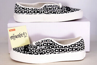 9b87f7904ec387 2018 Comme des Garcons x Vans Authentic LX CDG Sz 7 VN0A33TASHM Black White