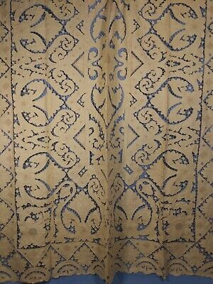Madeira Embroidered, Cutwork Linen Cloth With 12 Matching Napkins