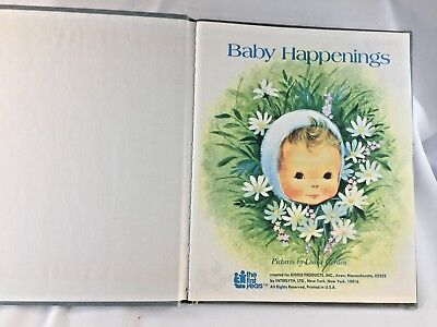 Vintage Baby Happenings Memento Book Retro New Baby Growth Special Events Book