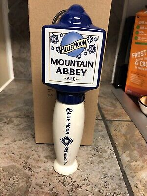 New In Box Blue Moon Mountain Abbey Ale Tall Tap Handle