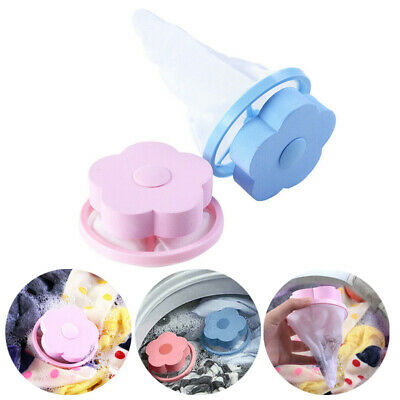 2 Home Floating Lint Hair Catcher Mesh Washing Machine Washer Laundry Filter Bag