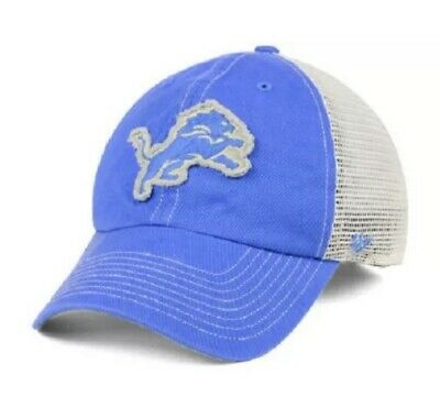 493ab226485 New NFL Detroit Lions  47 Trawler Canyon Mesh Adjustable Clean Up Cap Hat