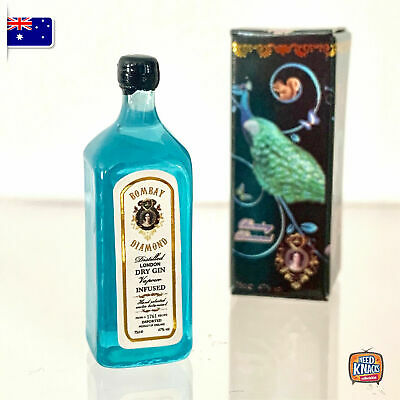 Mini Gin Bottle & Box - Miniature dollhouse 1:12 Little Shop Mini Brands