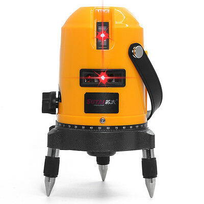 635nm 4V1H 5 line 6 point laser line cross line laser rotary laser level selfing