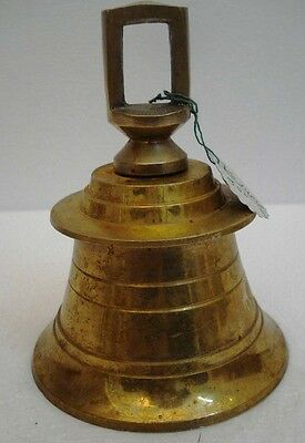 BRASS Bell - Marine / Religion / Spiritual - Height: 6 - Weight: 1.32 (1407)