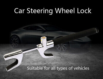 Steering Wheel Lock Extendable Double Hook Anti Theft Car Van High Security