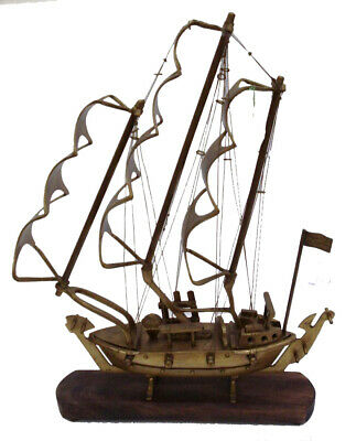 Vintage Style Marine BRASS SHIP / Vessel / Boat MODEL - NAUTICAL / MARITIME