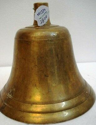 BRASS Bell - Marine / Religion / Spiritual - Height: 7 - Weight: 3.97 (1330)