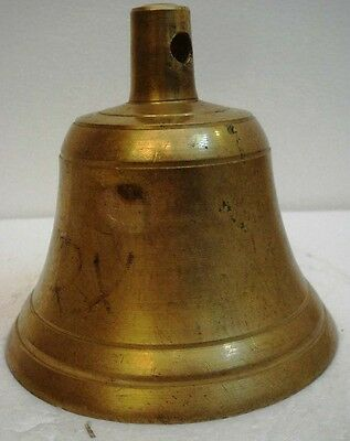 BRASS Bell - Marine / Religion / Spiritual - Height:6 - Weight: 2.92 (1317)
