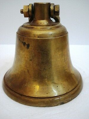 BRASS Bell - Marine / Religion / Spiritual - Height: 9- Weight: 3.1 (1323)