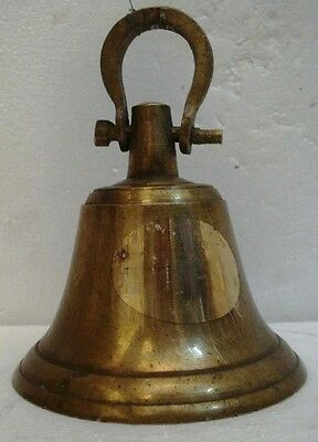 BRASS Bell - Marine / Religion / Spiritual - Height:9.5 - Weight: 2.37 (1327)