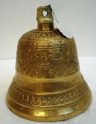 BRASS Bell - Marine / Religion / Spiritual - Height: 5.5 - Weight: 1.637 (1358)