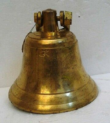 BRASS Bell - Marine / Religion / Spiritual - Height: 8.50- Weight: 2.38 (1315)