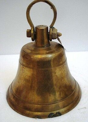 BRASS Bell - Marine / Religion / Spiritual - Height: 9 - Weight: 3.2 (1316)