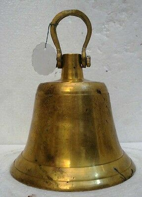 BRASS Bell - Marine / Religion / Spiritual - Height: 8.5 - Weight: 2.5 (1313)
