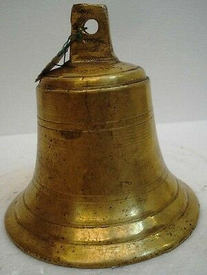 BRASS Bell - Marine / Religion / Spiritual - Height: 6.50 - Weight: 2.16 (1344)