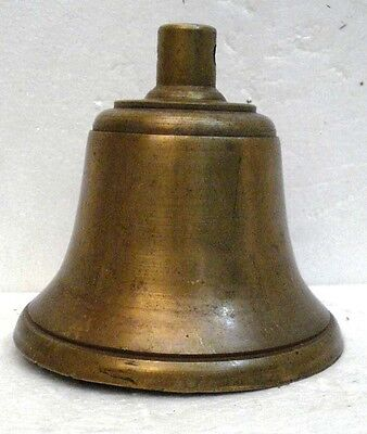 BRASS Bell - Marine / Religion / Spiritual - Height: 6.75 - Weight: 2.7 (1319)